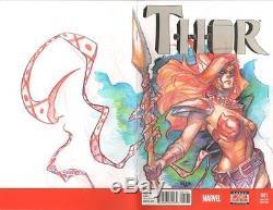 Angela Thor Meghan Hetrick Original Sketch Cover