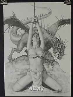 Arantza Great Pencil Drawing Of Sexy Girl And Dragon