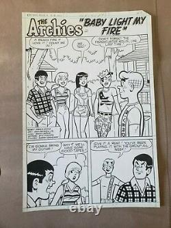 Archie Original Art 5 page full story Dan DeCarlo Life with Archie 218