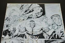 Art Adams Fantastic Four 349 pg 15 Hulk Spiderman Wolverine Ghost Rider