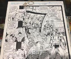 Art Thibert X-Men #12 Pg. 28 3/4 Splash Page Original Art Wolverine Rogue Gambit
