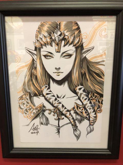 Artgerm Stanley Lau Original Art Zelda From His Inktober 2017 Sketch 9x12