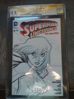 Arthur art adams original art supergirl sketch cover cgc 9.8