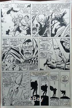 Astonishing Tales (1971) #5 Pg 28 George Tuska Original Art Dr. Doom Red Skull