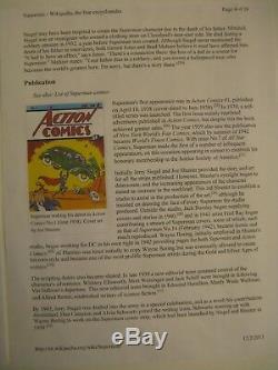 Authentic Rare Superman Cel # 1 Comic Book Cover Original Work Up Art