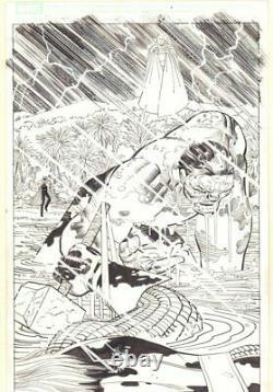 Avengers #11 p. 9 Hood, Hulk, Watcher, & Thor Splash 2011 art by John Romita Jr