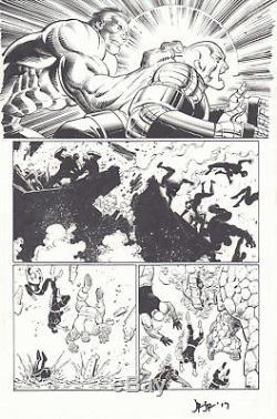 Avengers Vs. X-Men #2 p. 4 Hulk vs Colossus Juggernaut 2012 by John Romita Jr