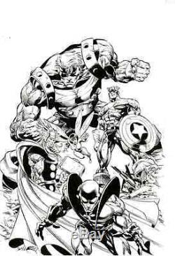Avengers by Mike Deodato Captain America Thor Goliath Yellow Jacket Wasp