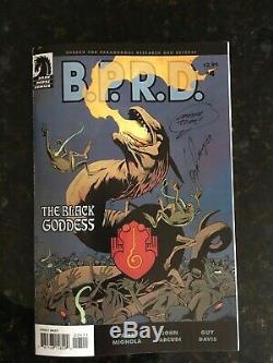 B. P. R. D. Original Art Guy Davis Signed Half Splash Plague of Frogs