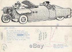 BASIL WOLVERTON Cop Carrier LIFE MAGAZINE ORIGINAL COMIC ART 1956