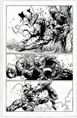 BATMAN DARK KNIGHT #6 PAGE 19 BANE ORIGINAL COMIC ART david finch