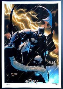 BATMAN DARK KNIGHT LTD EDITION ART PRINT JIM LEE & ALEX SINCLAIR 13x19