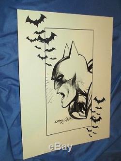 BATMAN/DARK KNIGHT Original Art Sketch by Neal Adams