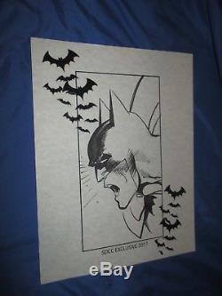 BATMAN/DARK KNIGHT Original Art Sketch by Neal Adams SDCC Exclusive 2017