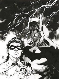 BATMAN & ROBIN Original Art by JIM LEE