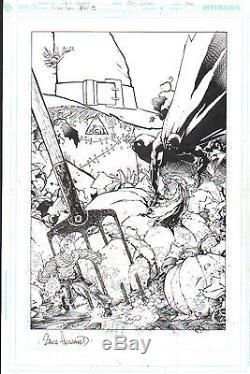 BATMAN SCARECROW YEAR ONE ORIGINAL ART COVER Zach Howard Sean Murphy DC Comics