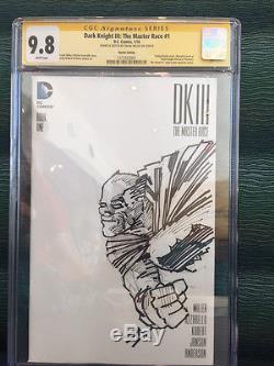 Batman Sketch Cover Cgc Ss 9.8 Inked Frank Miller Dark Knight III Original Art