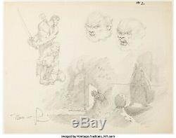 BERNI WRIGHTSON Signed WEREWOLF Character Sketch ORIGINAL ART 17 X 13.25
