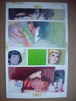 BILL SIENKIEWICZ 1986 Elektra Assassin #4 p 8 Original Art