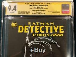 BILL SIENKIEWICZ ORIGINAL Sketch Art CGC 9.4 Signed Detective Comics 1000 Batman