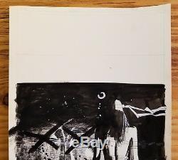 BILL SIENKIEWICZ Original comic art Elektra/Kingpin, unpublished page. Beauty