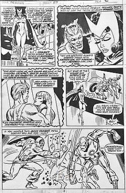 BOB BROWN AVENGERS #114 Original Comic Bronze Age Art 1973