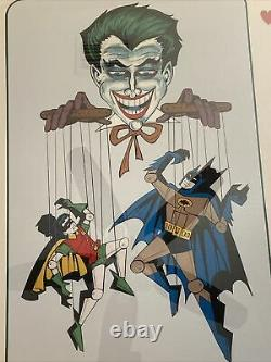 BOB KANE ARTIST DC COMICS 1978 JOKER BATMAN ROBIN # 140/300 Signed Original Work