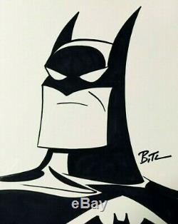 BRUCE TIMM ORIGINAL BATMAN ART SKETCH SIGNED with COA RARE ANIMATED SERIES NOT CGC