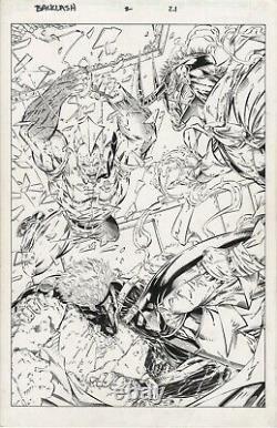 Backlash Issue 2 Page 21 Image DC Savage Dragon Brett Booth Inked OA Splash Pg