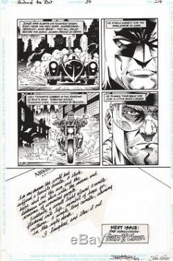 Barry Kitson Signed Original Art Batman Shadow of the Bat #37 Batmobile & Joker