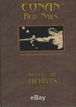 Barry Windsor-smith Conan Red Nails Printed At Full Size From Original Art