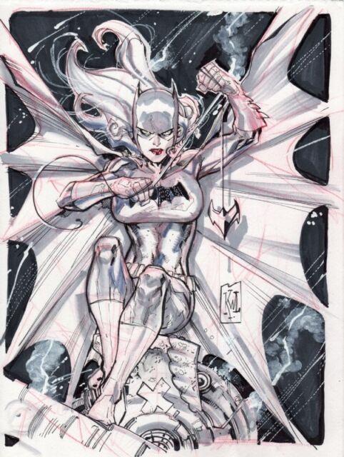 Batgirl By Ken Lashley Original Art Commission Sketch 9x12