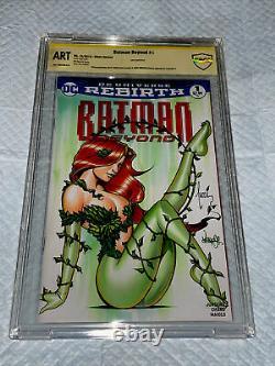 Batman #1 Blank Cover Cbcs 9.8 Ss Oa. Original Art Sketch Jose Varese & Tucci