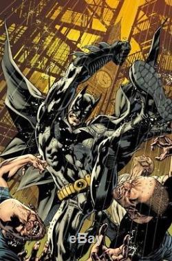 Batman 12 Bryan Hitch Original Comic Art Cover 2012 Signed Dark Knight Detective