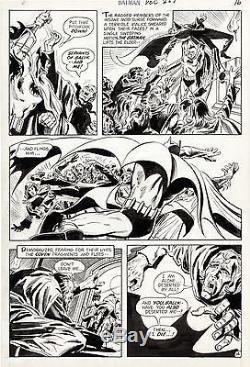 Batman #227 p. 16 Irv Novick Original Comic Art DC Comics