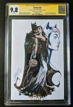 Batman 50 CGC 9.8 SS CATWOMAN Original Sketch Art J SCOTT CAMPBELL G Selina Kyle