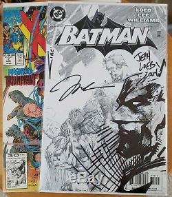 Batman 612 Black & White Variant Original Sketch Art Remark Jim Lee / Jeph Loeb