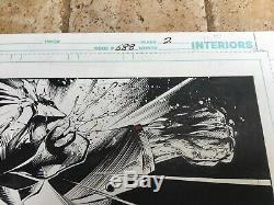 Batman 688 Original Art Page 2 Signed Mark Bagley Rob Hunter Authentic Splash