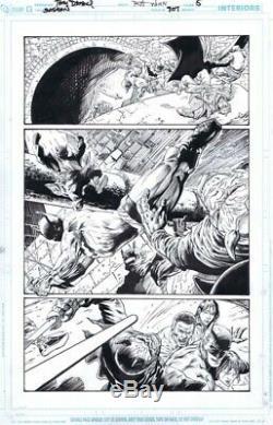 Batman #707 p. 5 Tony Daniel Original Comic Art DC Comics