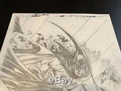 Batman Battle for the Cowl # 2 Variant Original Cover Art by Tony Daniel