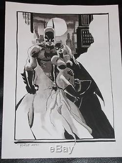 Batman & Catwoman Full Cover Quality Color Original Commission -tim Sale