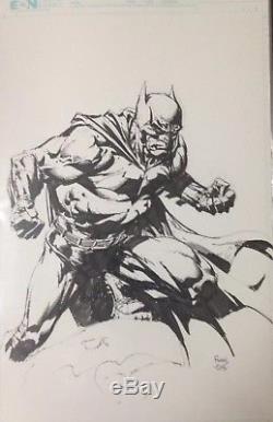 Batman David Finch Full Figure Original Art Pencil/ink Commission 11x17 (Batman)
