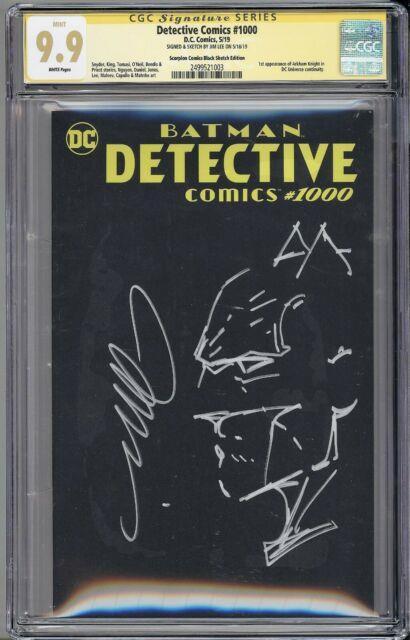 Batman Detective Comics 1000 Cgc 9.9 Original Art Jim Lee Remarked Rare Vhtf Hot