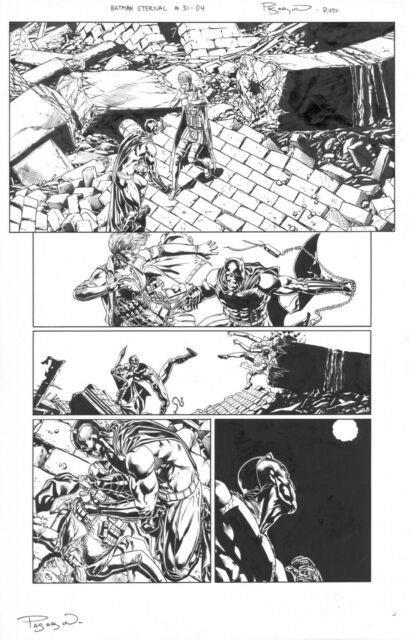 Batman Eternal 31 Page 4 Original Comic Art 2015 Joker's Daughter No Reserve
