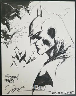 Batman Jim Lee 11x14 Original Sketch Art poison ivy x men superman 1 DC death