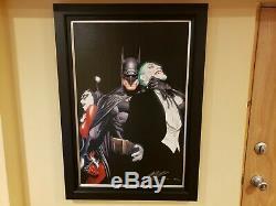 Batman Mind If I Cut In Alex Ross SIGNED 53/100 DC COA Giclee canvas print