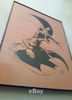 Batman Moon Knight Bob MCleod Signed Original Art