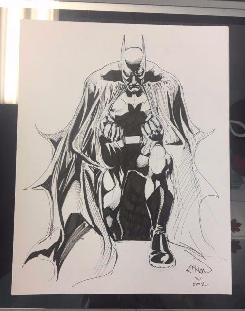 Batman Original Art Sketch By Ethan Van Sciver (2012)