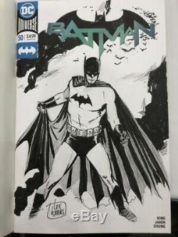 Batman Original Art Sketch by Lee Weeks on Batman #50 Sketch Cover