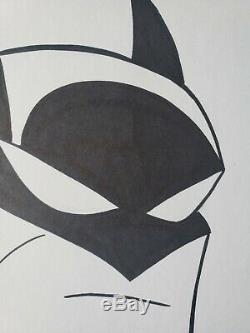 Batman Original Sketch Art by Bruce Timm 8.5x11